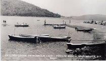 Image of Gaylord Lodge on Schroon Lake -- Private Beach, Adirondack, N.Y. B292 - Print, Real Photo Postcard