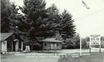 Image of French-Italian Restaurant & North Hudson Cabins, Route 9, North Hudson, N.Y. B186 - Print, Real Photo Postcard