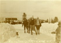 """Image of """"Winter Sport"""" at Speculator, N.Y. - Print, Real Photo Postcard"""