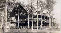 Image of The Old Homestead  Beaver River N.Y. - Print, Real Photo Postcard