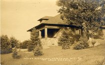 Image of Fould's Bungalow, Newcomb, N.Y. 41. At Lake Harris. - Print, gelatin silver