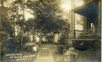 Image of Summer House and Grounds, Higby Camp, Big Moose Lake, N.Y. - Print, gelatin silver
