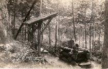 Image of The Old Oaken Bucket;Camp Olinda  Old Forge N.Y. - Print, gelatin silver