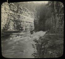 Image of Ausable Chasm Rapids - Transparency, Lantern-slide
