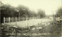 Image of The Tennis Court. Lake View Lodge. Big Moose, N.Y. - Print, gelatin silver
