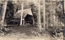Image of An ideal camp in the Adirondack Mountains. Lake View Lodge. Big Moose, N.Y. - Print, gelatin silver