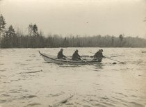 Image of Men In A Drive Boat - Print, Photographic
