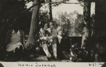 Image of Women by Lower Saranac Lake - Print, Photographic