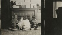 Image of Women by Asiel Cottage Fireplace - Print, Photographic