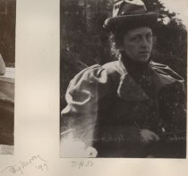 Image of Woman with Hat and Coat - Print, Photographic