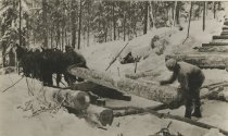 Image of Loading Logs from Skidway - Print, Photographic
