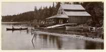 Image of Whiteface Inn Boat House, Lake Placid. - Print, albumen