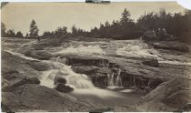 Image of 595.  Bog River Falls, Adirondacks - Print, Albumen