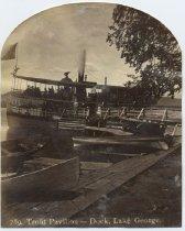 Image of 789. Trout Pavilion--Dock, Lake George. - Print, albumen