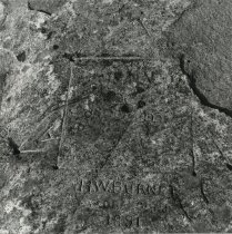 Image of Rock Carving, Blue Mountain - Print, Photographic