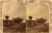 Image of [--] Depot at Luzerne. - photo - mounted; sepia