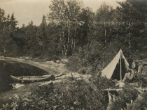 Image of Camping by Lake - Print, Photographic