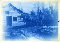 Image of [Untitled: Carriage] - Print, cyanotype