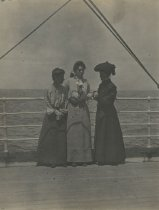 Image of Women by Ship Railing - Print, Photographic