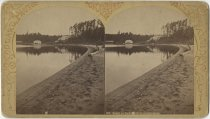 Image of Lower St. Regis Lake Beach - Stereoview