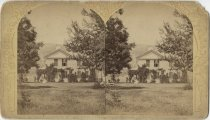 Image of House with Climbing Vines - Stereoview