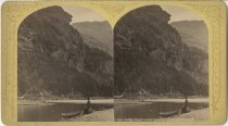 Image of Lower Ausable Lake and Indian Head - Stereoview