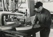 Image of Willard Hanmer Making Guideboat Ribs - Print, Photographic