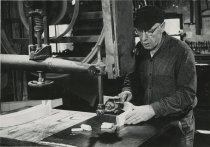 Image of Willard Hanmer Cutting Guideboat Ribs - Print, Photographic
