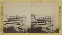 Image of Jennie on Upper Chateaugay Lake - Stereoview