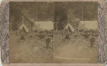 Image of Men at Enterprise Camp - Stereoview
