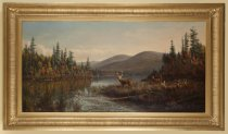 Image of Autumn Morning, Racquette [sic] Lake - Painting