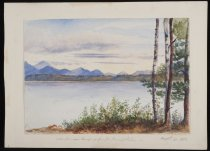 Image of View From our Camping Ground Round Lakes - Painting