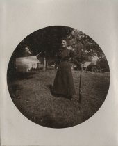 Image of Woman with Lever Action Rifle - Print, Photographic