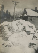 Image of Woodpile in Winter  - Print, Photographic