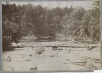 Image of Wooden Footbridge at Outlet of Cranberry Lake  - Print, Photographic