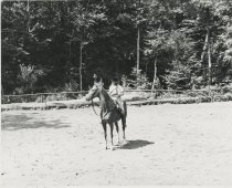 Image of Camper on Horseback - Print, Photographic