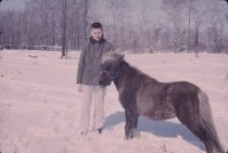 Image of Man and Pony - Transparency, Slide