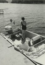 Image of Preparing to Water Ski at Camp  - Print, Photographic