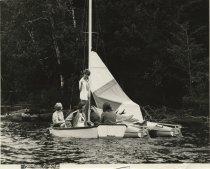 Image of Preparing to Sail at Camp  - Print, Photographic