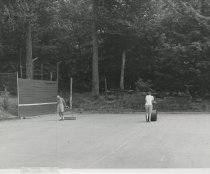 Image of Preparing the Tennis Courts at Camp - Print, Photographic