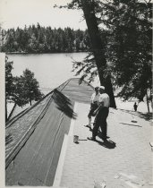 Image of Working on Roof  - Print, Photographic