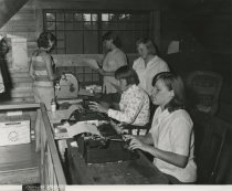Image of Working on Camp Newsletter - Print, Photographic