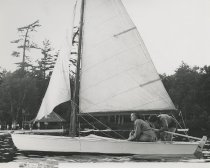Image of Preparing to Sail on Raquette Lake   - Print, Photographic
