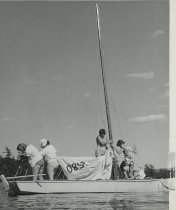 Image of Preparing the Mainsail   - Print, Photographic