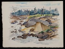 Image of Untitled: River Camp - Painting