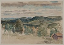 Image of Arietta Looking North To the Adirondacks - Painting