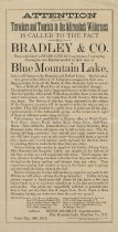 Image of The attention of travelers and tourists to the Adirondack wilderness... - Bradley & Co.