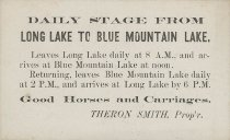 Image of Daily stage from Long Lake to Blue Mountain Lake. - Smith, Theron