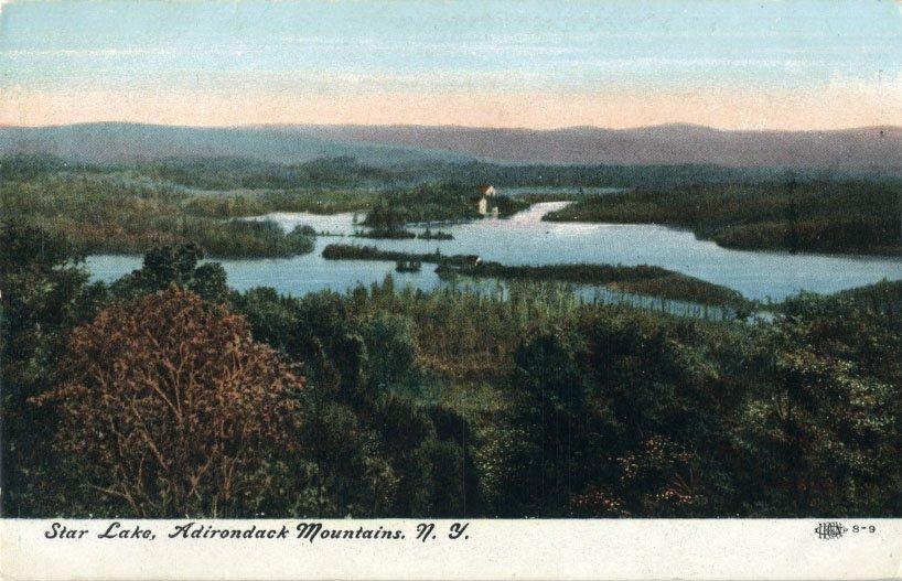Star Lake Ny >> Star Lake Adirondack Mountains N Y Postcard
