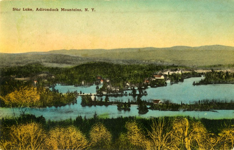 Star Lake Ny >> Star Lake Adirondack Mountains N Y Postcard